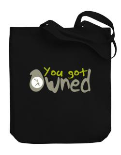 """  YOU GOT OWNED Pickleball  "" Canvas Tote Bag"