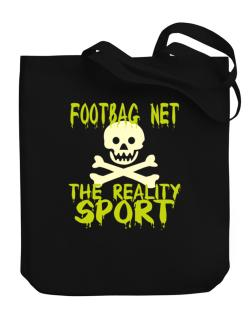 Footbag Net The Reality Sport Canvas Tote Bag