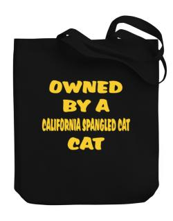Owned By S California Spangled Cat Canvas Tote Bag