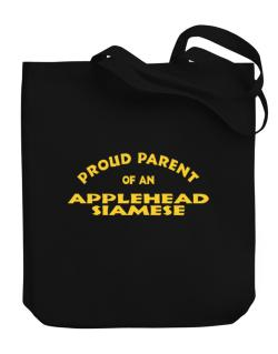 Proud Parent Of An Applehead Siamese Canvas Tote Bag