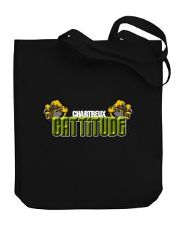 Chartreux Cattitude Canvas Tote Bag