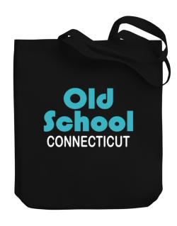 Old School Connecticut Canvas Tote Bag
