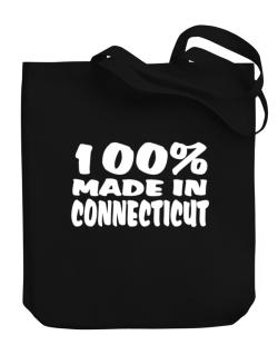 100% Made In Connecticut Canvas Tote Bag