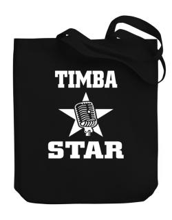 Timba Star - Microphone Canvas Tote Bag