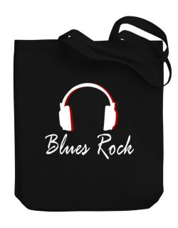 Blues Rock - Headphones Canvas Tote Bag