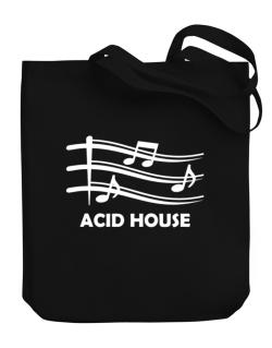 Acid House - Musical Notes Canvas Tote Bag