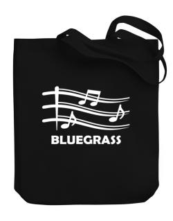 Bluegrass - Musical Notes Canvas Tote Bag