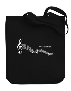 Freestyle Music - Notes Canvas Tote Bag