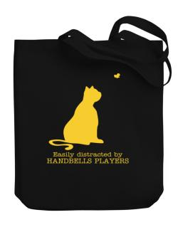 Easily Distracted By Handbells Players Canvas Tote Bag