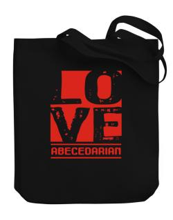 Love Abecedarian Canvas Tote Bag