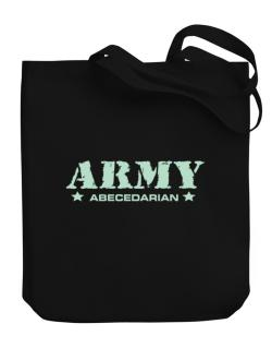 Army Abecedarian Canvas Tote Bag