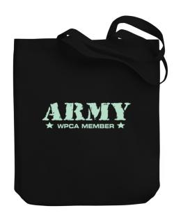 Army Wpca Member Canvas Tote Bag