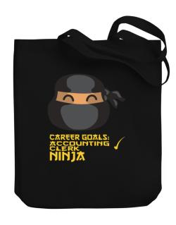 Carrer Goals: Accounting Clerk - Ninja Canvas Tote Bag