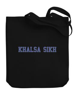 Khalsa Sikh - Simple Athletic Canvas Tote Bag