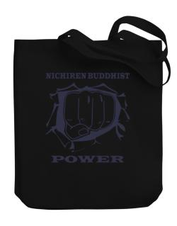 Nichiren Buddhist Power Canvas Tote Bag