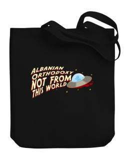 Albanian Orthodoxy Not From This World Canvas Tote Bag