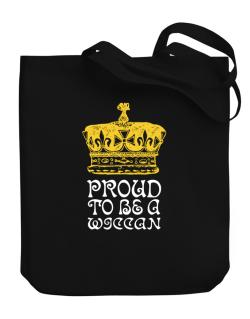 Proud To Be A Wiccan Canvas Tote Bag
