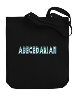 Abecedarian Canvas Tote Bag