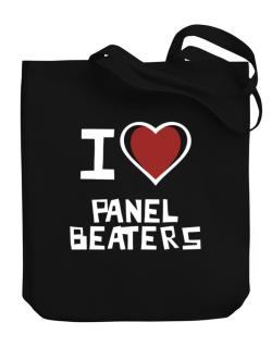 I Love Panel Beaters Canvas Tote Bag