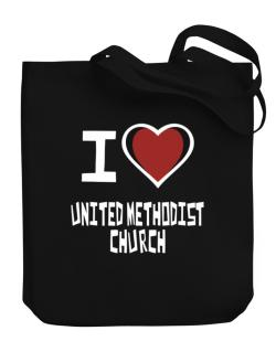 I Love United Methodist Church Canvas Tote Bag