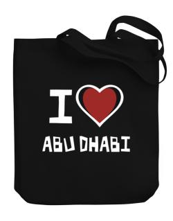 I Love Abu Dhabi Canvas Tote Bag