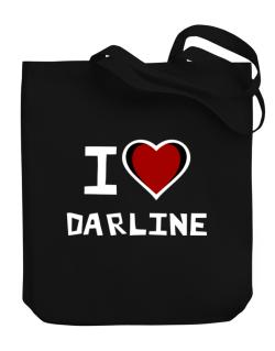 I Love Darline Canvas Tote Bag
