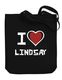 I Love Lindsay Canvas Tote Bag