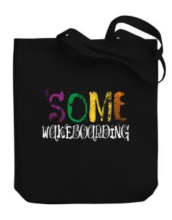 Some Wakeboarding Canvas Tote Bag