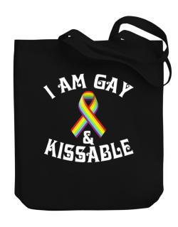 I Am Gay And Kissable Canvas Tote Bag