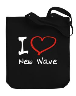 I Love New Wave Canvas Tote Bag
