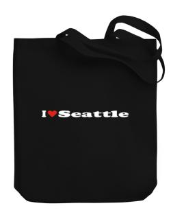 I Love Seattle Canvas Tote Bag