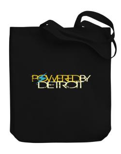 Powered By Detroit Canvas Tote Bag