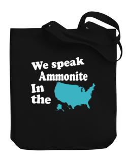 Ammonite Is Spoken In The Us - Map Canvas Tote Bag