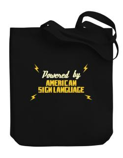 Powered By American Sign Language Canvas Tote Bag