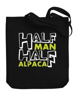 Half Man , Half Alpaca Canvas Tote Bag