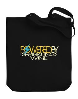 Powered By Sparkling Wine Canvas Tote Bag