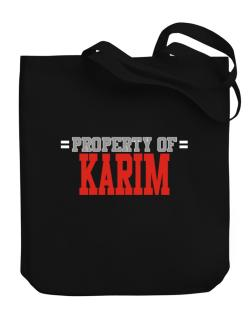 """ Property of Karim "" Canvas Tote Bag"