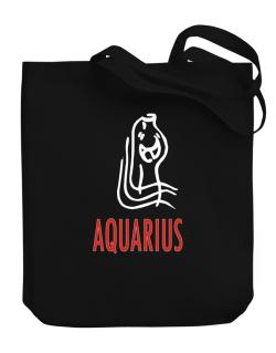 Aquarius - Cartoon Canvas Tote Bag