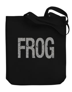 Frog - Vintage Canvas Tote Bag