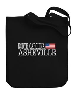 Asheville State Canvas Tote Bag