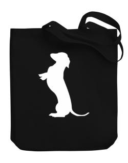 Begging Dachshund Canvas Tote Bag