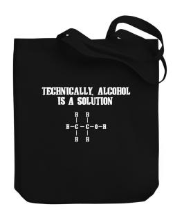 Alcohol is a solution Canvas Tote Bag