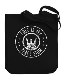 This is My Peace Sign Canvas Tote Bag