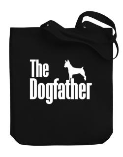 The dogfather Rat Terrier Canvas Tote Bag
