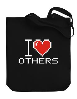 I love Others pixelated Canvas Tote Bag