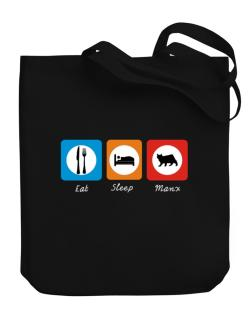 Eat sleep Manx Canvas Tote Bag