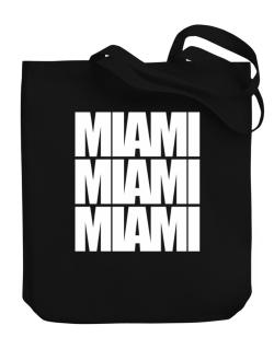 Miami three words Canvas Tote Bag