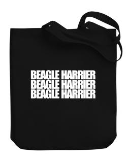 Beagle Harrier three words Canvas Tote Bag