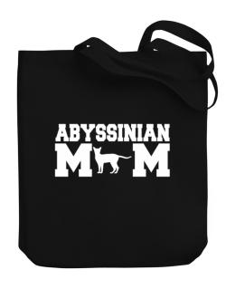 Abyssinian mom Canvas Tote Bag