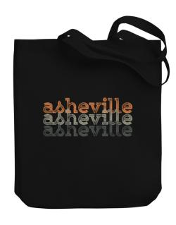 Asheville repeat retro Canvas Tote Bag